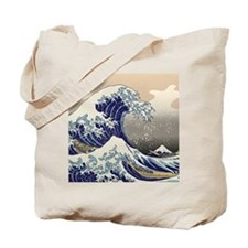 Hokusai_Great_WaveKing1 Tote Bag
