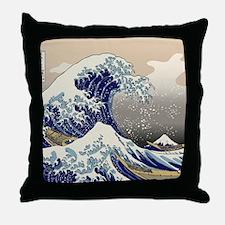 Hokusai_Great_WaveKing1 Throw Pillow
