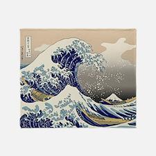 Hokusai_Great_WaveKing1 Throw Blanket