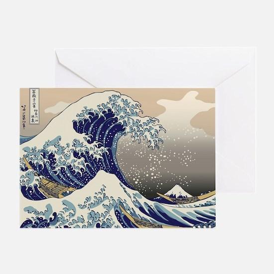Hokusai_Great_WaveKing1 Greeting Card