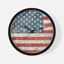 vintageAmerica4Shower1 Wall Clock
