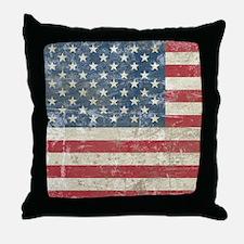 vintageAmerica4Shower1 Throw Pillow