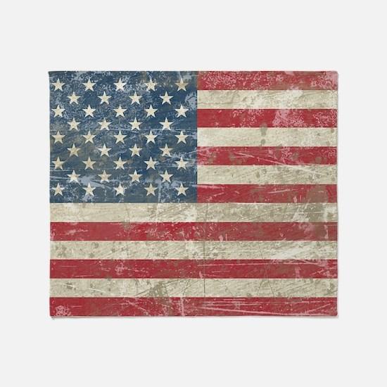 vintageAmerica4Pillow Throw Blanket
