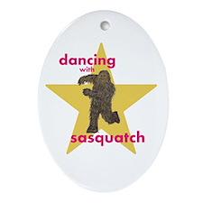Dancin Sasquatch Ornament (Oval)