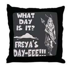 Freya's Day Throw Pillow