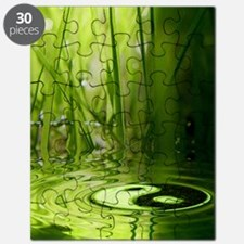 showercurtain_greenyinyang Puzzle