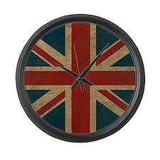 UnionJack9Blanket Large Wall Clock
