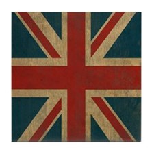 UnionJack9Ipad1 Tile Coaster
