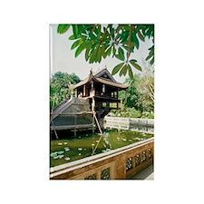 One Pillar Pagoda near a pond, Ha Rectangle Magnet