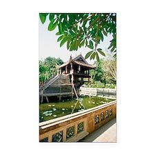 One Pillar Pagoda near a pond Rectangle Car Magnet
