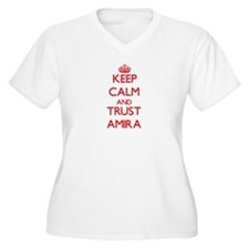 Keep Calm and TRUST Amira Plus Size T-Shirt