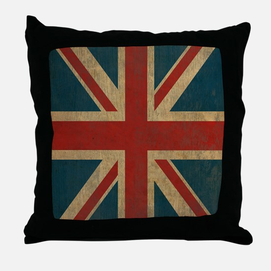 UnionJack9Twin1 Throw Pillow
