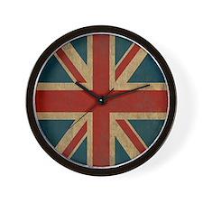 UnionJack9Twin1 Wall Clock