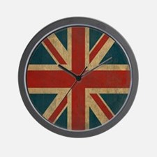 UnionJack9Twin1 Wall Clock