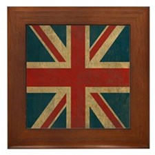 UnionJack9Twin1 Framed Tile