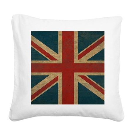UnionJack9Queen Square Canvas Pillow