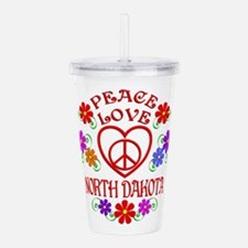 Peace Love North Dakot Acrylic Double-wall Tumbler