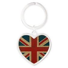 UnionJack9King Heart Keychain
