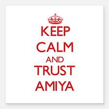 "Keep Calm and TRUST Amiya Square Car Magnet 3"" x 3"