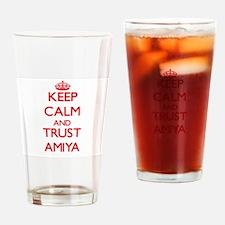Keep Calm and TRUST Amiya Drinking Glass