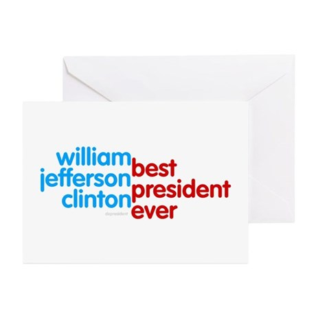 Best President Ever Greeting Cards (Pk of 10)