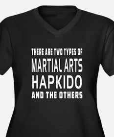 Hapkido Designs Women's Plus Size V-Neck Dark T-Sh