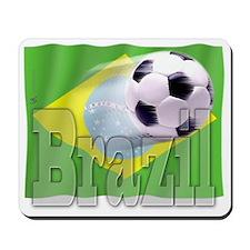 Soccer Flag Brazil Mousepad