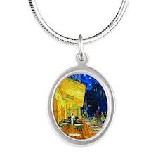 K/N VG Cafe Silver Oval Necklace