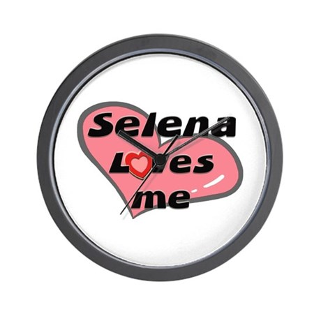 selena loves me Wall Clock