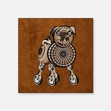 "duvetKingSteampunkPug Square Sticker 3"" x 3"""