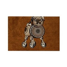 coinPurseSteampunkPug Rectangle Magnet