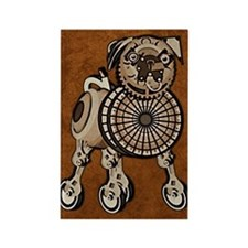 ipad2CaseSteampunkPug Rectangle Magnet