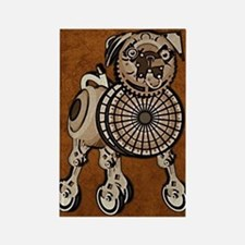 ipad2CoverSteampunkPug Rectangle Magnet