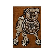 duvetTwinSteampunkPug Rectangle Magnet
