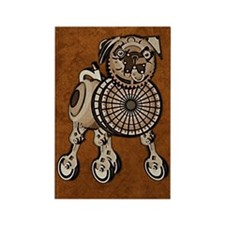 iphone4SliderSteampunkPug Rectangle Magnet