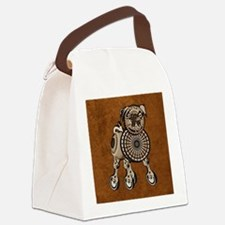 mensWalletSteamPug Canvas Lunch Bag