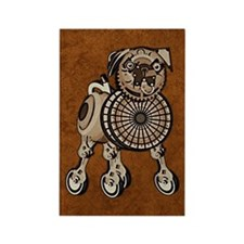 nookSleeveSteampunkPug Rectangle Magnet