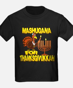 Mashugana For Thanksgivukkah Turkey and Menorah T-