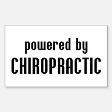 Powered By Chiro Rectangle Decal