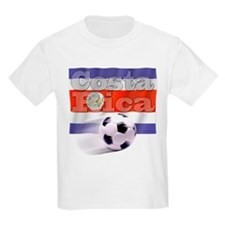 Soccer Flag Costa Rica Kids T-Shirt