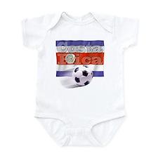Soccer Flag Costa Rica Infant Bodysuit