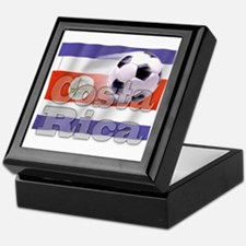 Soccer Flag Costa Rica Keepsake Box