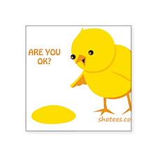 """Are you ok? Square Sticker 3"""" x 3"""""""