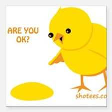 """Are you ok? Square Car Magnet 3"""" x 3"""""""