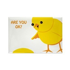 Are you ok? Rectangle Magnet