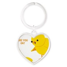 Are you ok? Heart Keychain