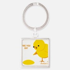 Are you ok? Square Keychain