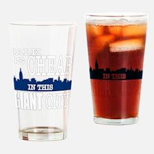 talkcheapDARK Drinking Glass