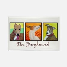 The Greyhound Rectangle Magnet