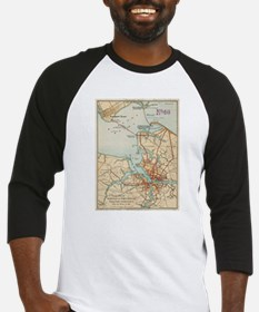 Vintage Map of Norfolk and Portsmo Baseball Jersey